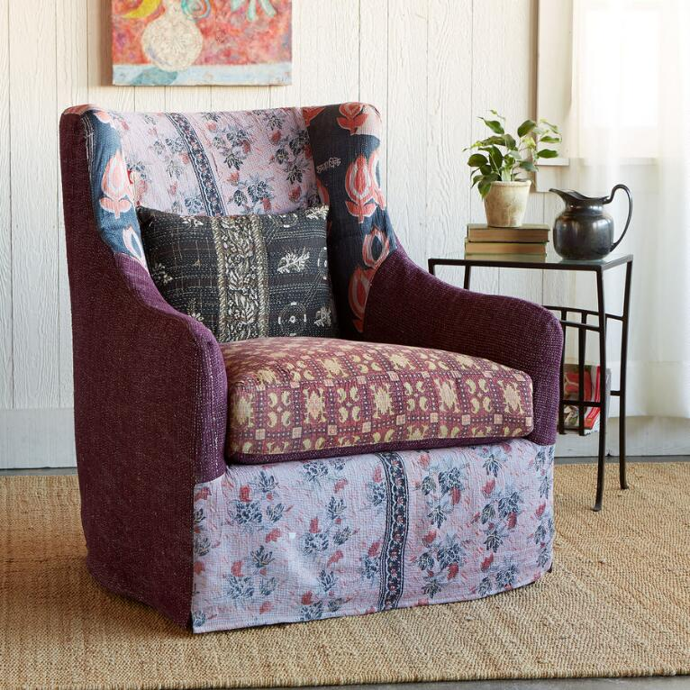 ZANSKAR SLIPCOVERED SARI CHAIR