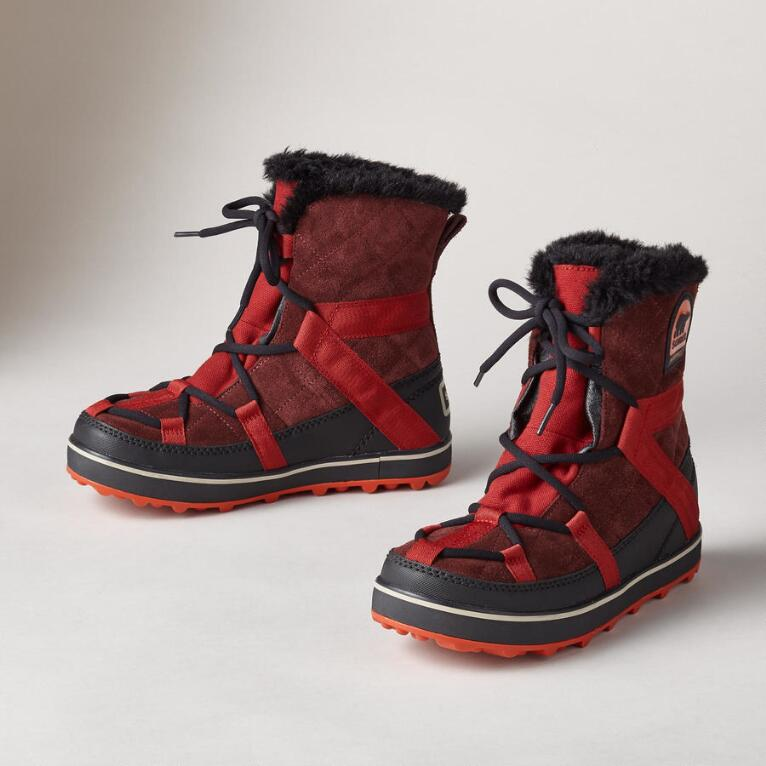 GLACY EXPLORER SHORT BOOTS BY SOREL