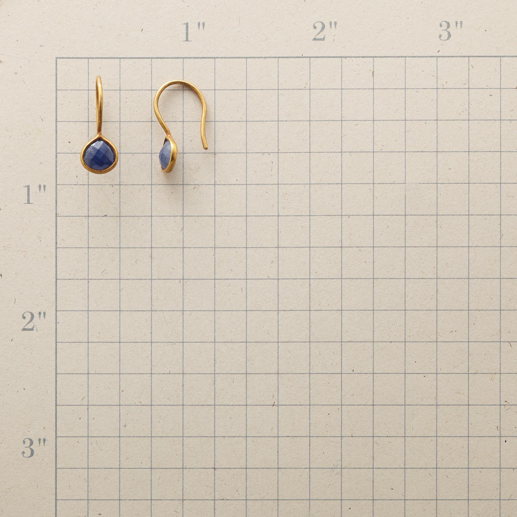 SAPPHIRE RAINDROP EARRINGS: View 2