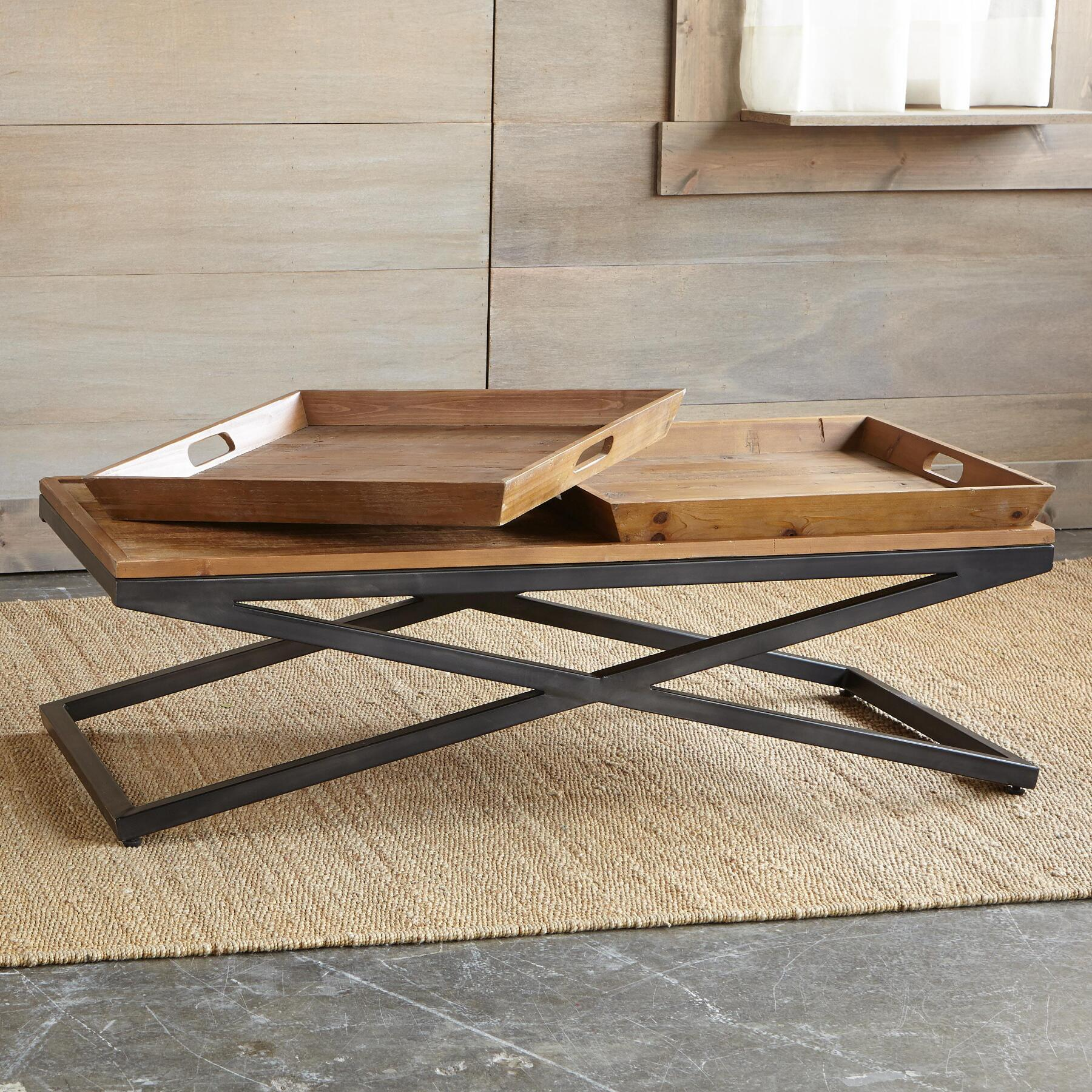 ENTRADA COFFEE TABLE, DOUBLE TRAY: View 3