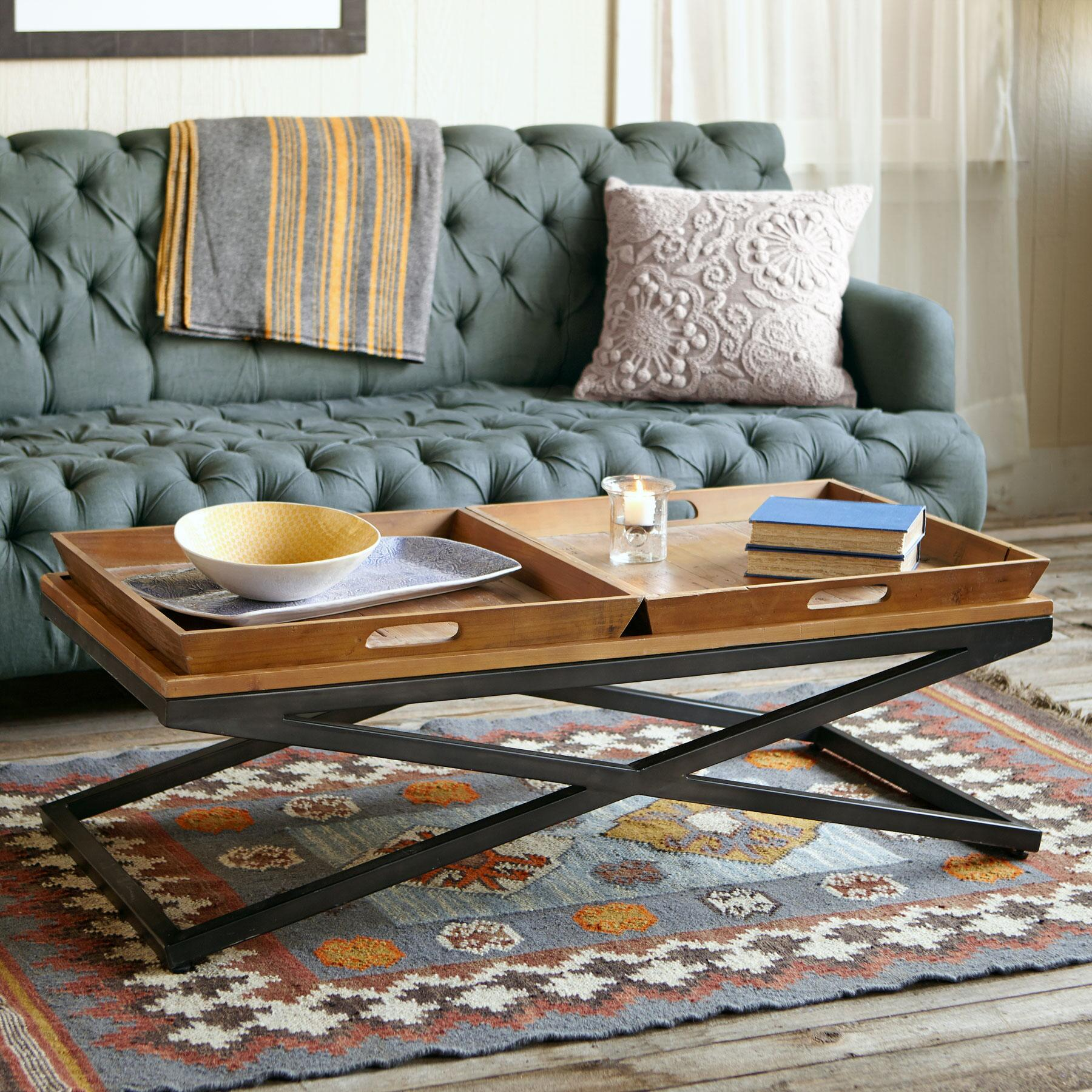 ENTRADA COFFEE TABLE, DOUBLE TRAY: View 6