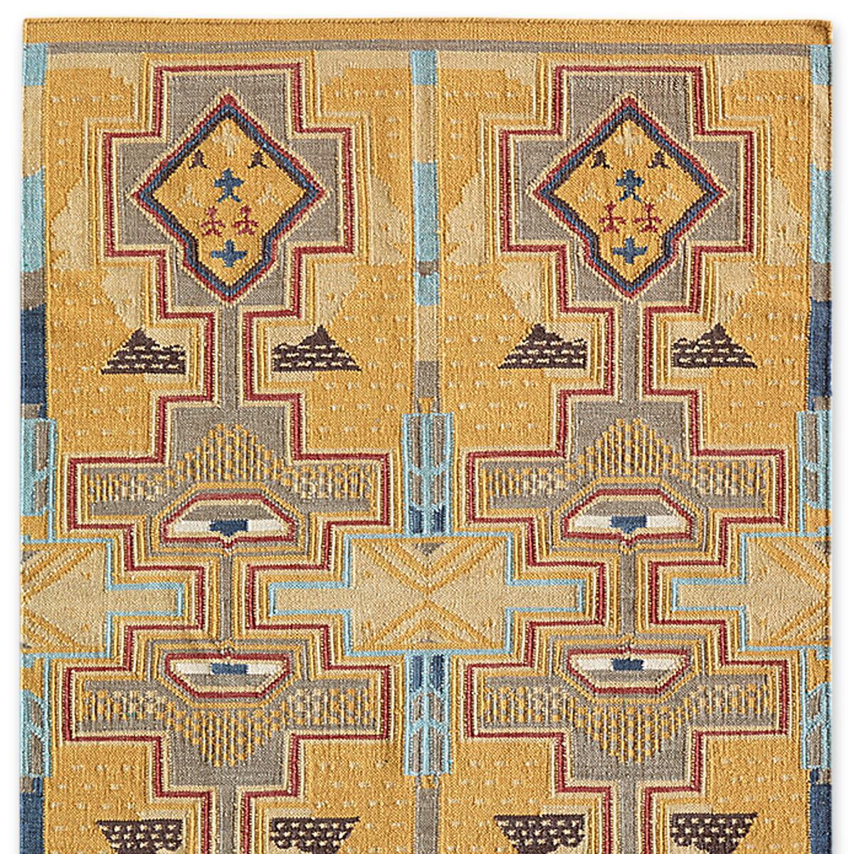 SUN CANYONS DHURRIE RUG, LARGE: View 1