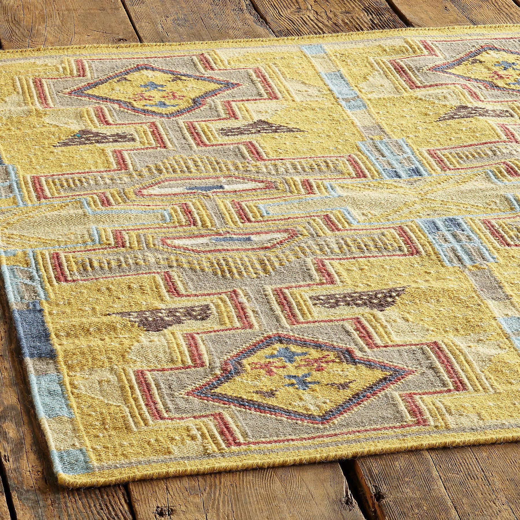 SUN CANYONS DHURRIE RUG, LARGE: View 2