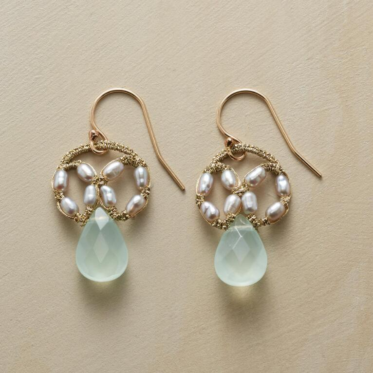 CHALCEDONY DREAM CATCHER EARRINGS
