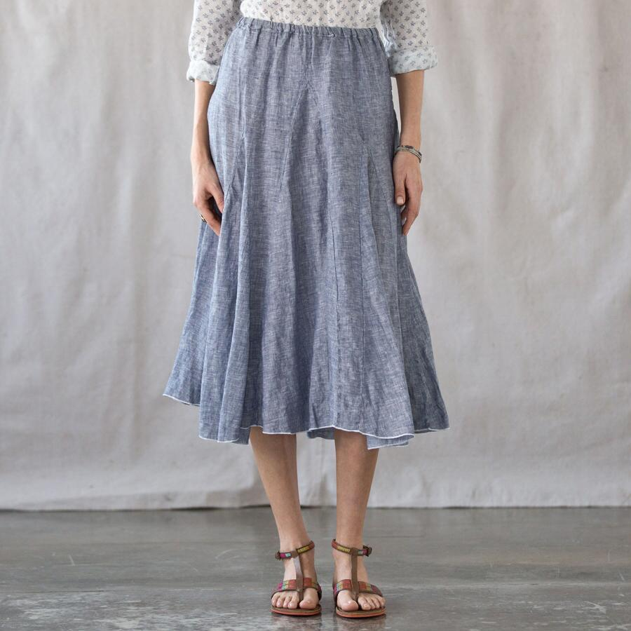 C P SHADES WINDRIFT LINEN SKIRT