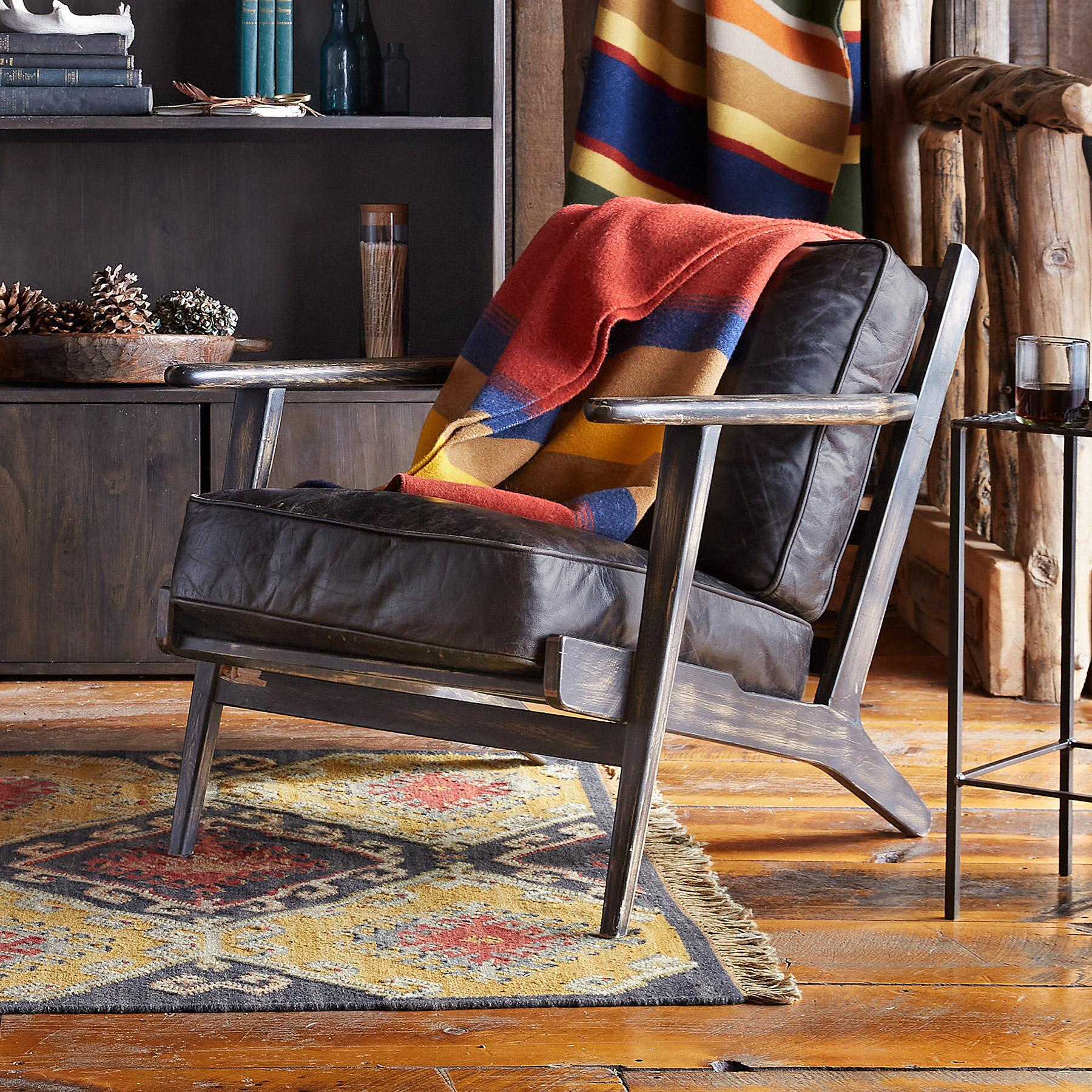 TIMPANOGOS LEATHER CHAIR: View 1