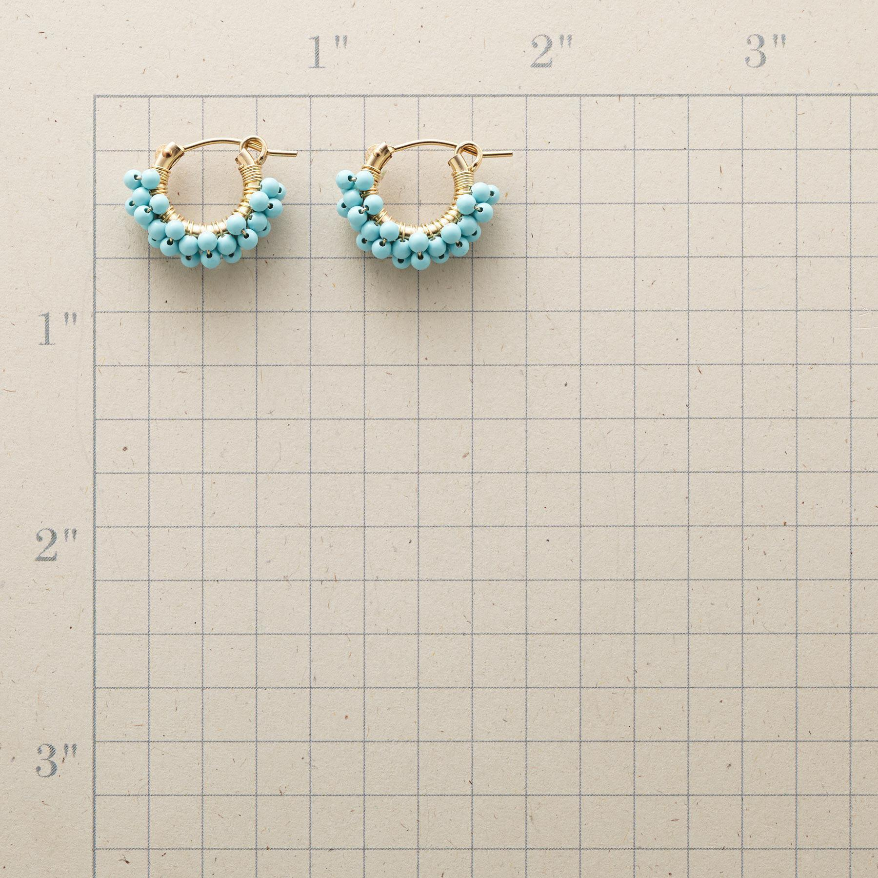 TURQUOISE BUBBLE HOOP EARRINGS: View 2