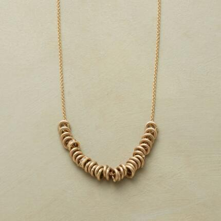 Gold Necklace with pave diamonds by Rebecca Lankford