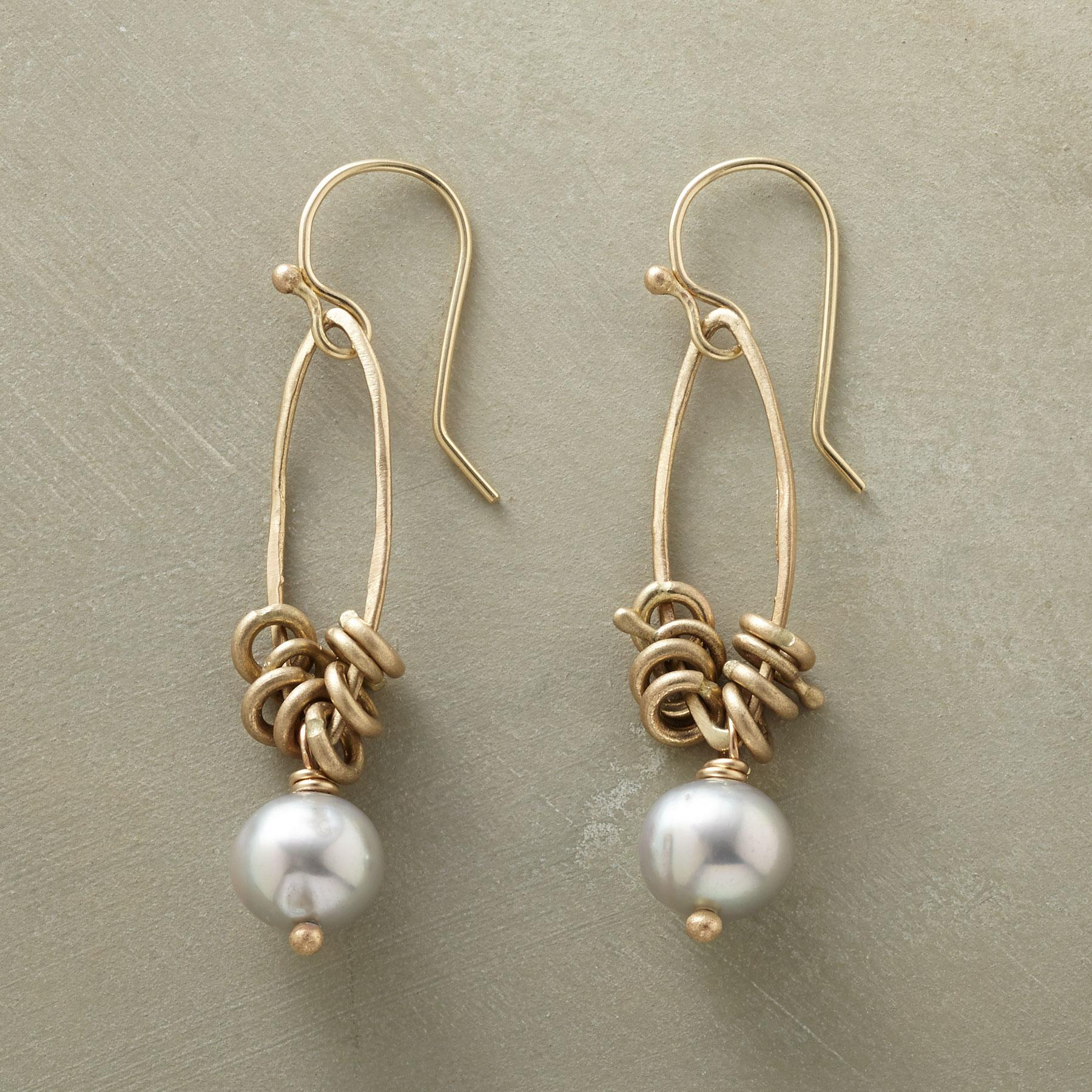 KINETIC PEARL EARRINGS: View 1