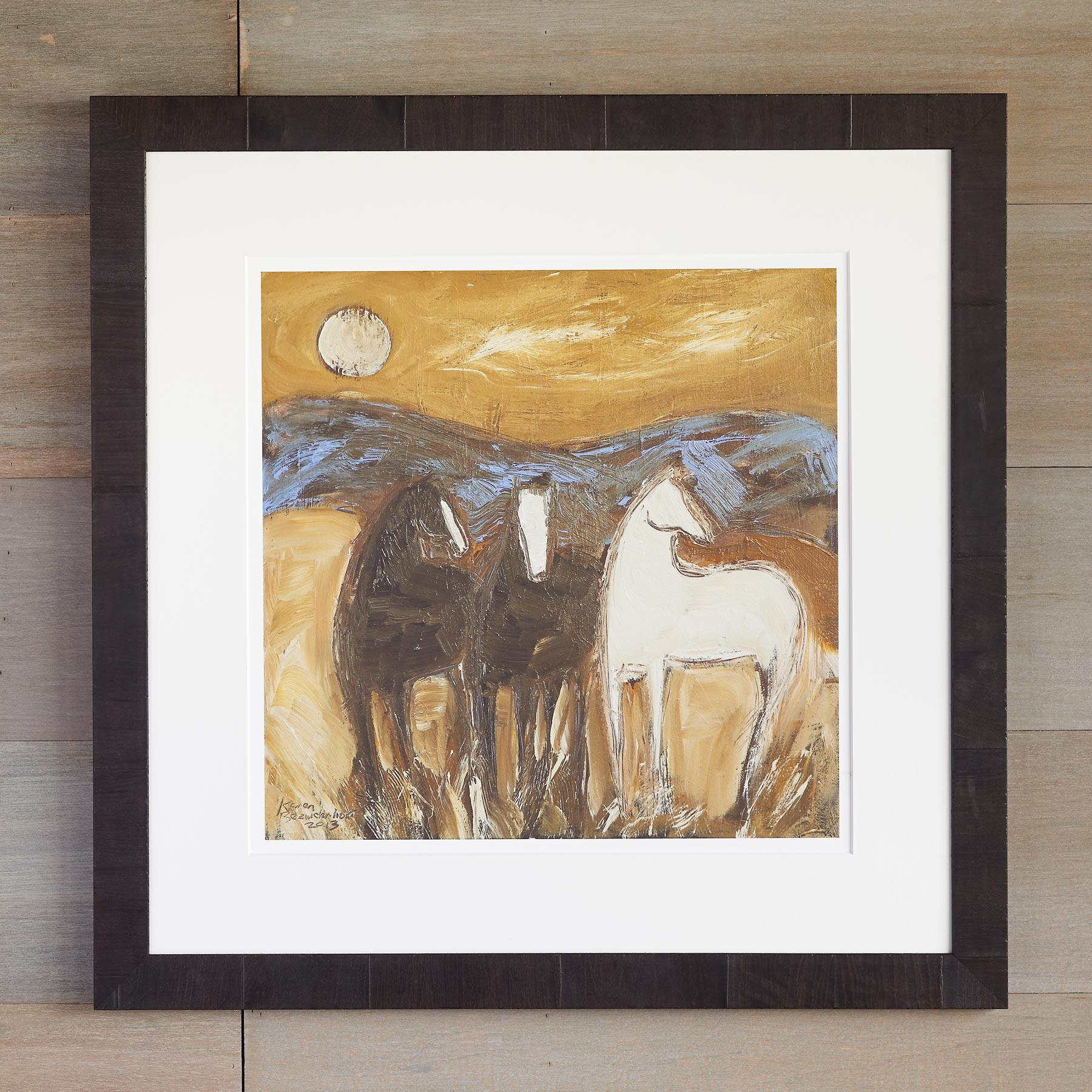 UTAH PONIES IN THE WIND PRINT: View 1