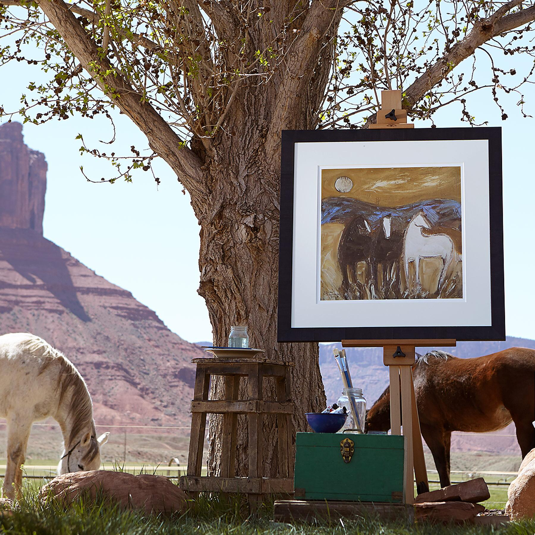 UTAH PONIES IN THE WIND PRINT: View 2