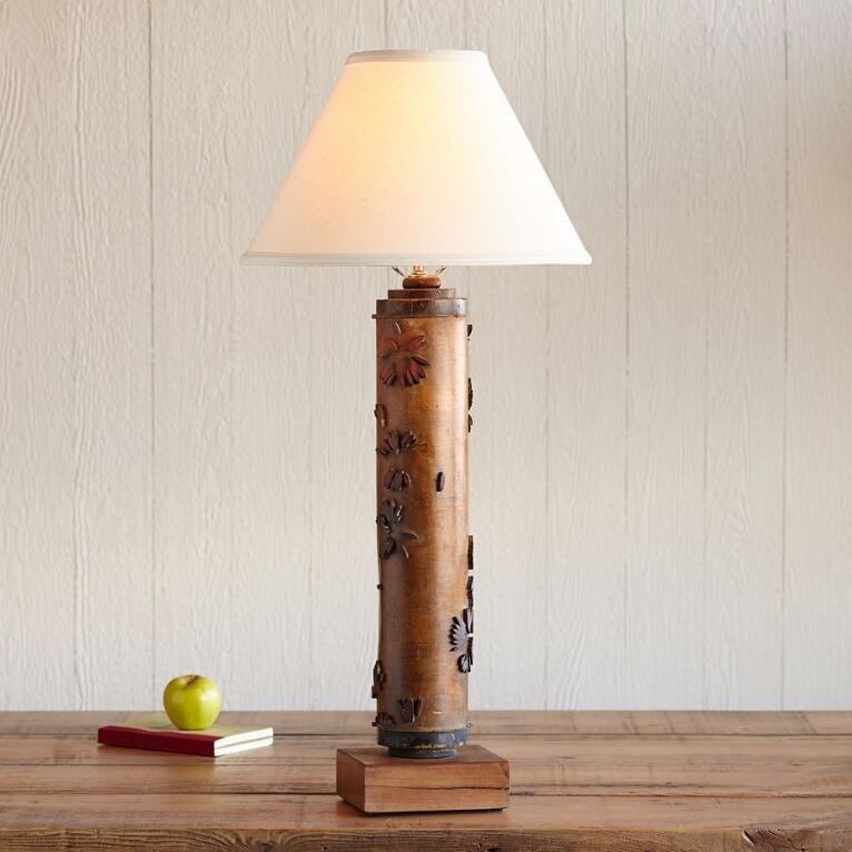 ONE-OF-A-KIND HIGHFIELD VINTAGE ROLLER LAMP