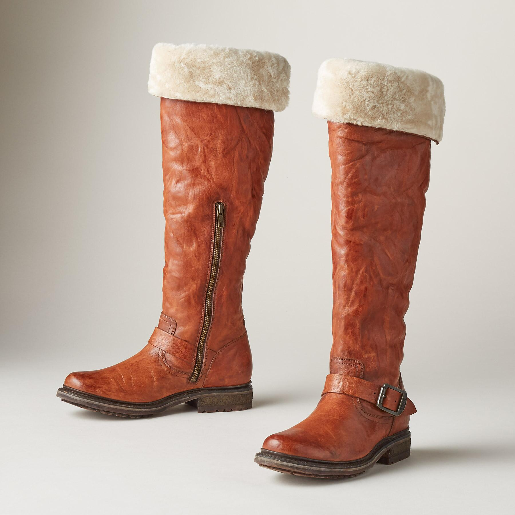 VALERIE SHEARLING BOOTS BY FRYE®: View 1