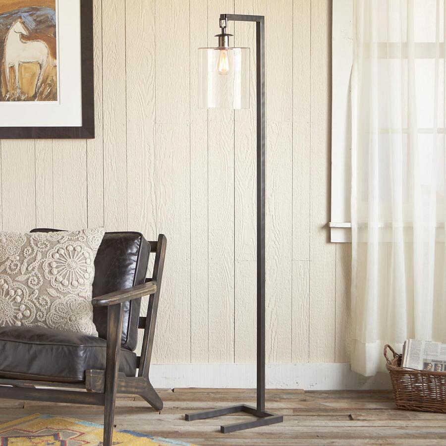 SILVER STRIKE FLOOR LAMP