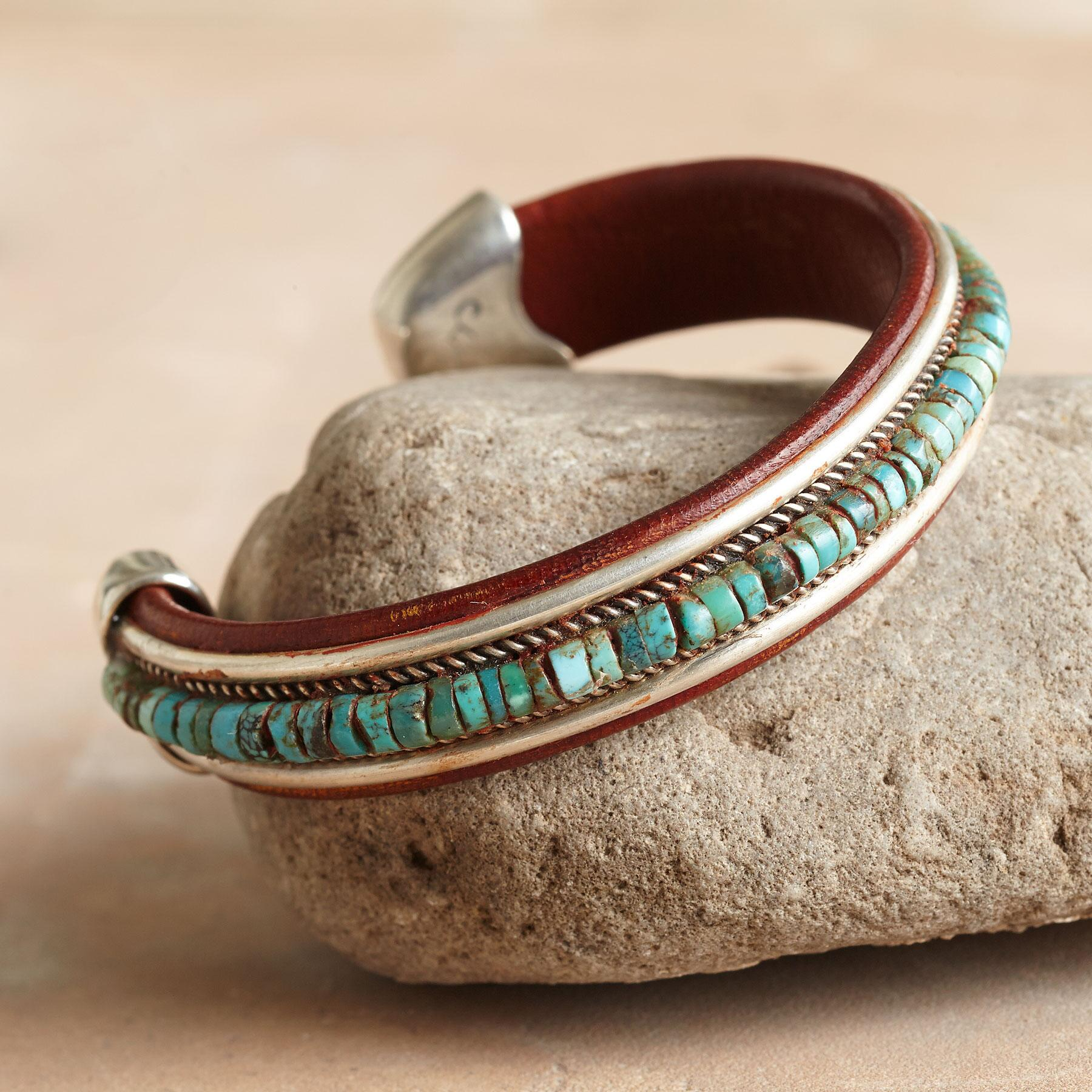 TURQUOISE SPECTRUM CUFF: View 1