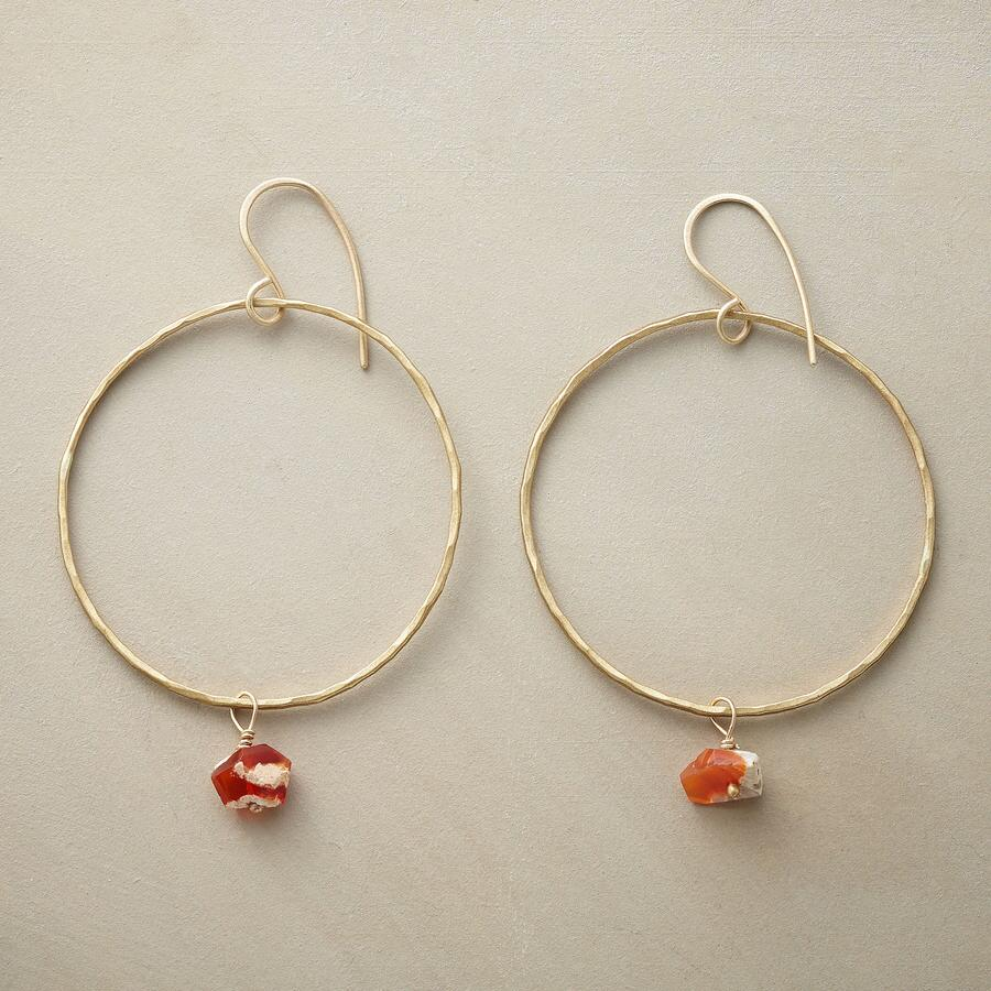 FIRE OPAL HOOP EARRINGS