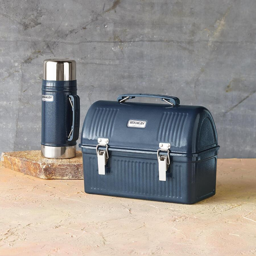 steel lunch box thermos set robert redford 39 s sundance catalog. Black Bedroom Furniture Sets. Home Design Ideas