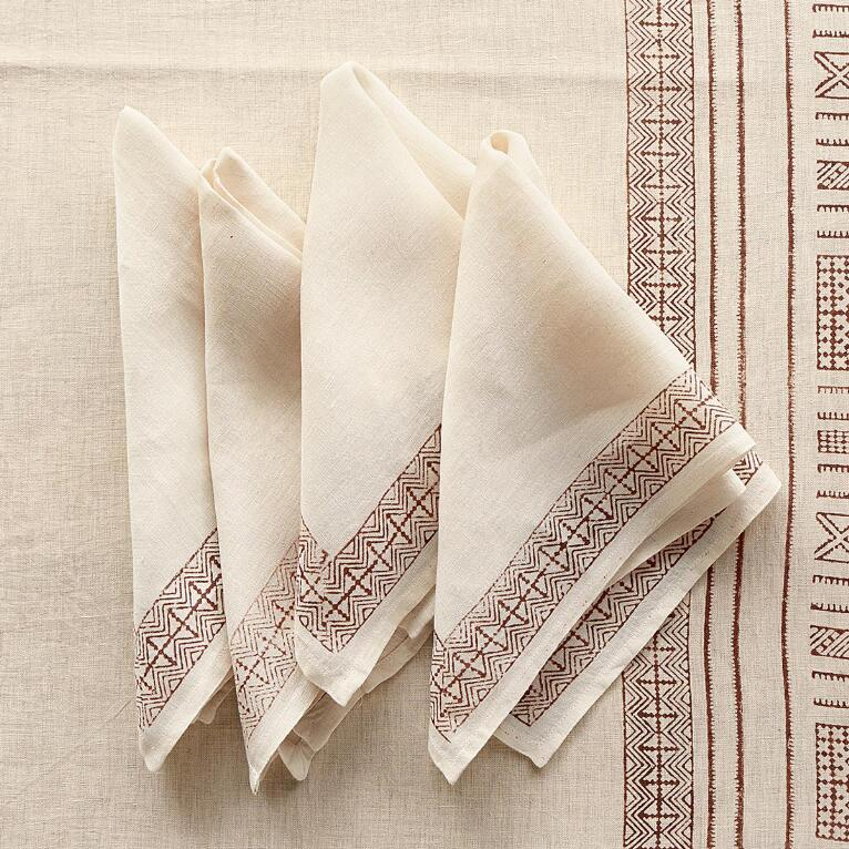 CINNAMON ROAD NAPKINS S/4
