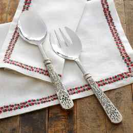 FLEUR DE LYS SERVING SET, SET OF 2