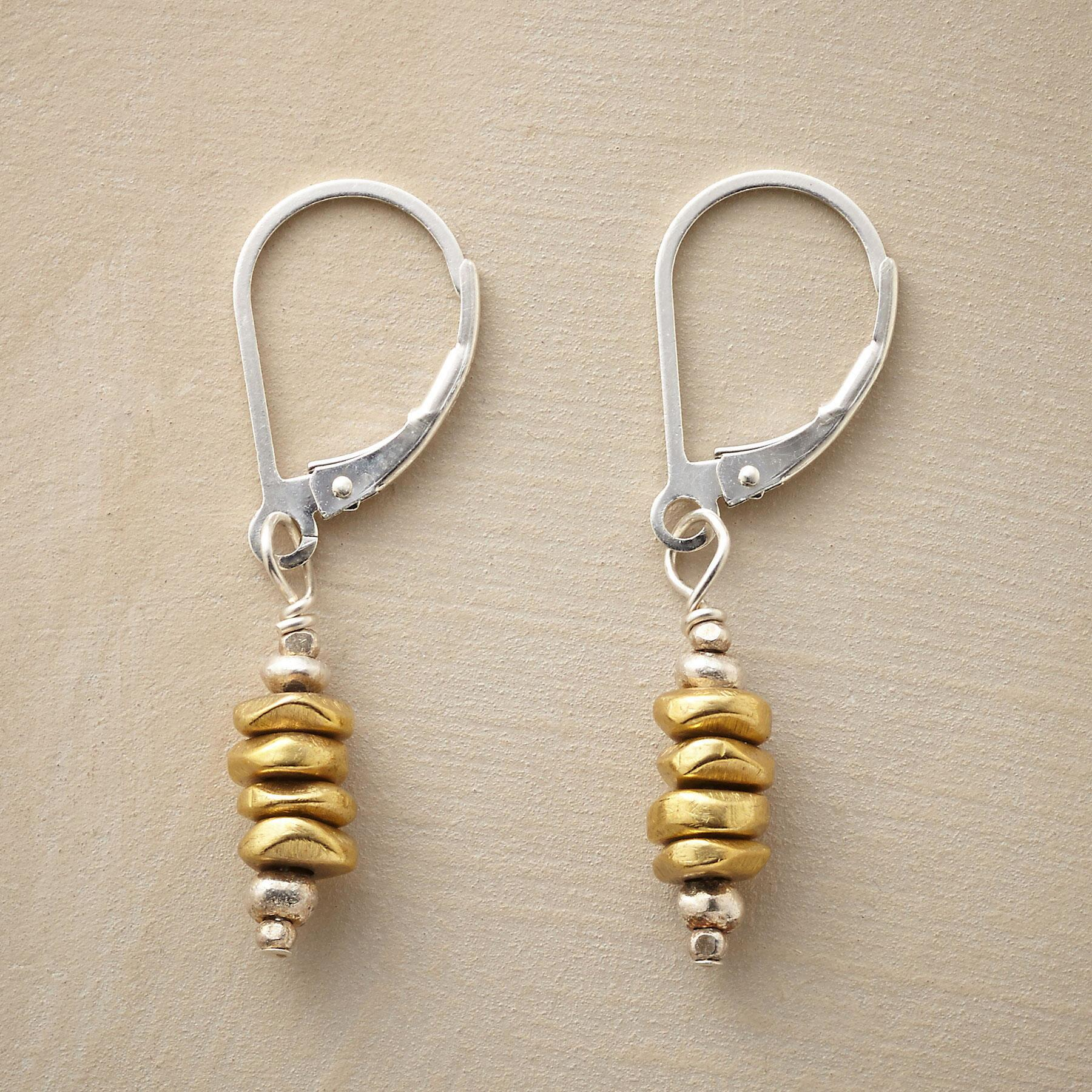 BRASS CAIRN EARRINGS: View 1