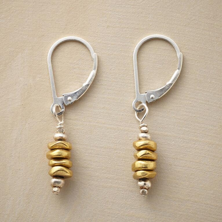 BRASS CAIRN EARRINGS