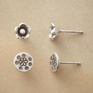 FLORAL DUET EARRING SET