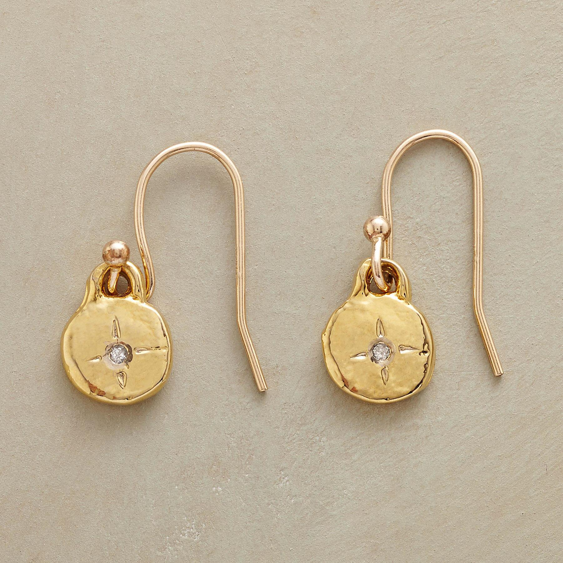 GOLD LITTLE BIT EARRINGS: View 1