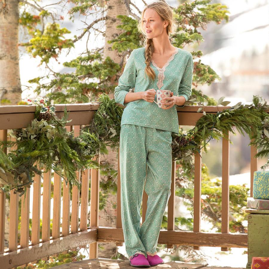 GWYNETH SLEEPWEAR KNIT PJ SET