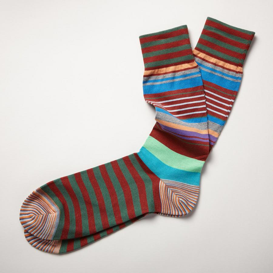 BROWN MULTI CHARISMA COLOR SOCKS
