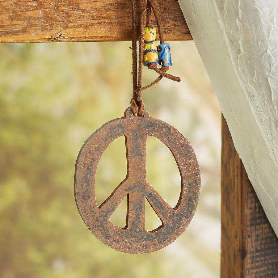 Steel Peace Sign Wall Art | Robert Redford\'s Sundance Catalog