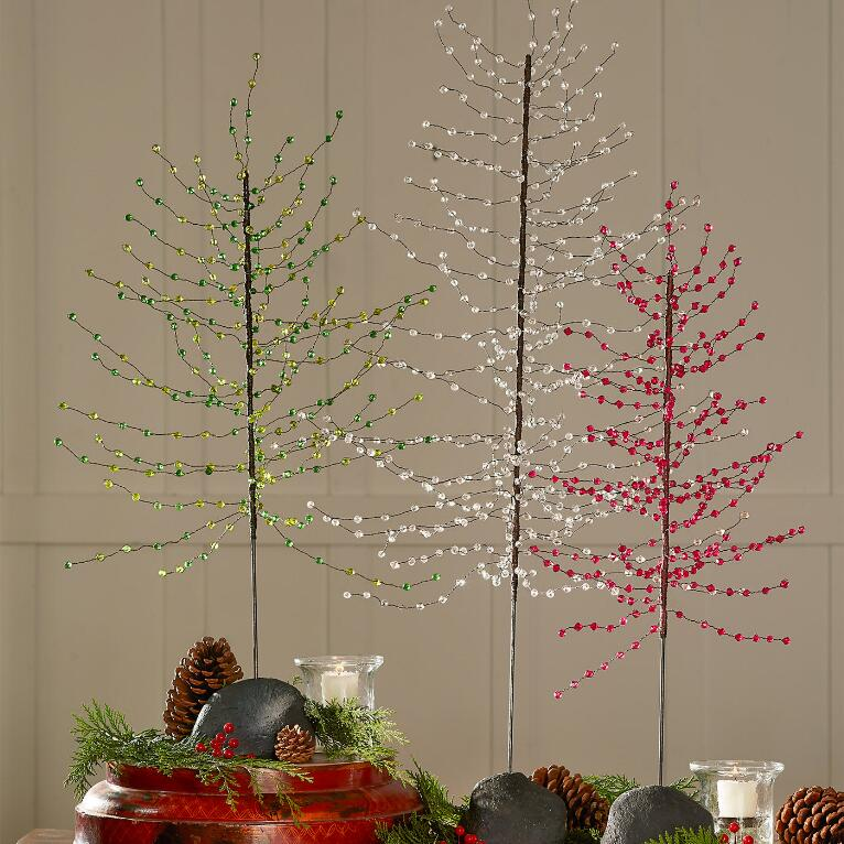 Beaded Wire Tree Decorations | Robert Redford\'s Sundance Catalog