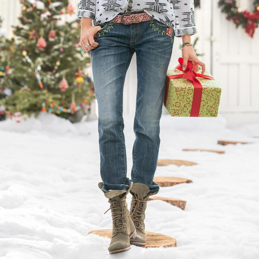 Audrey Poinsettia Jeans By Driftwood