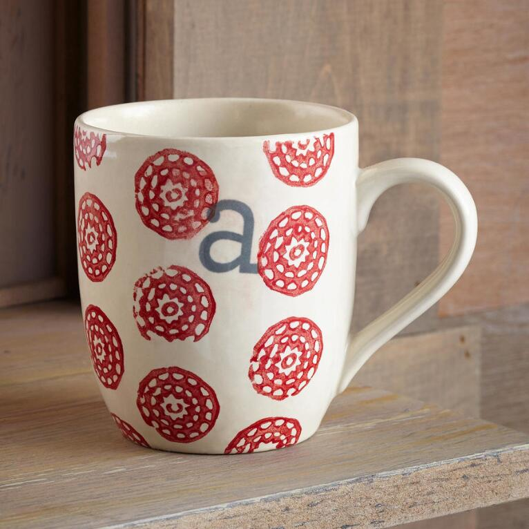 TO THE LETTER RED MUG