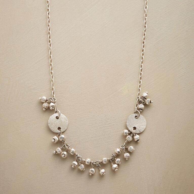 DISK AND DROP NECKLACE