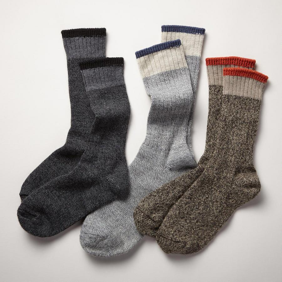 MARLED SOJOURNER SOCKS, SET OF 3