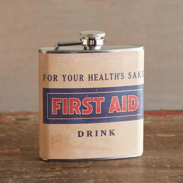 LIQUID COURAGE FLASK FIRST AID