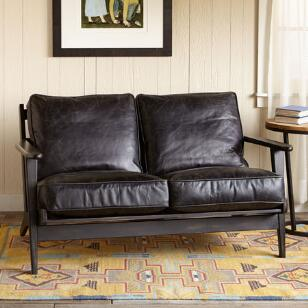 TIMPANOGOS LEATHER LOVESEAT