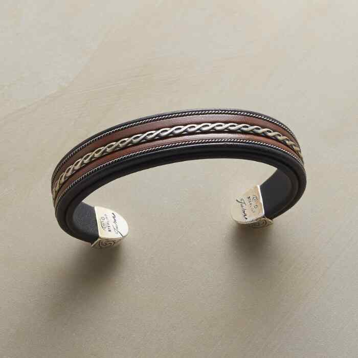 STERLING BRAID CUFF
