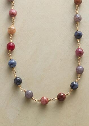 SAPPHIRES OF MANY COLORS NECKLACE