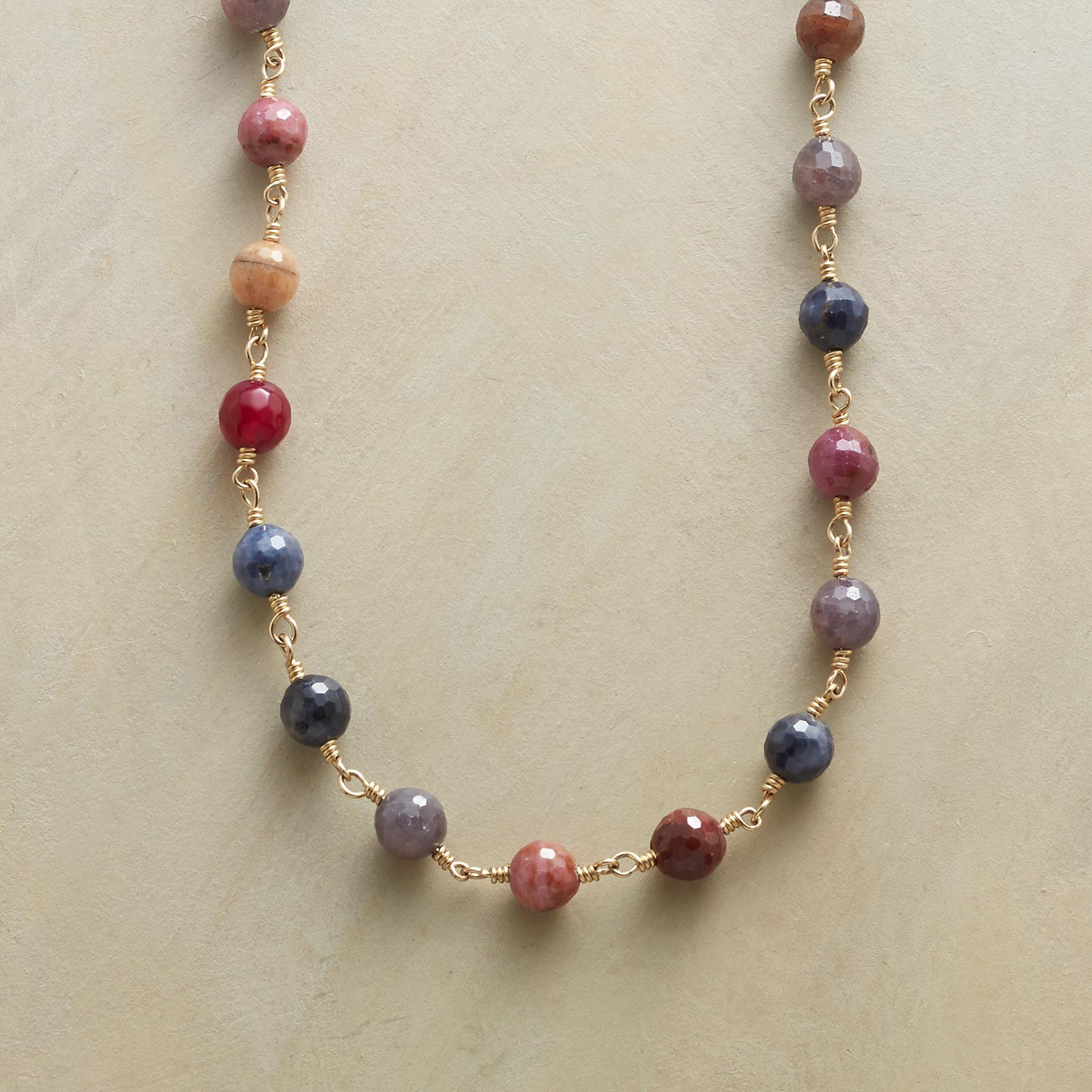 SAPPHIRES OF MANY COLORS NECKLACE: View 1
