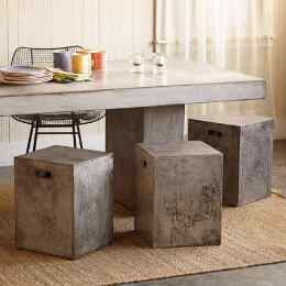 GRAVITAS CEMENT DINING STOOL