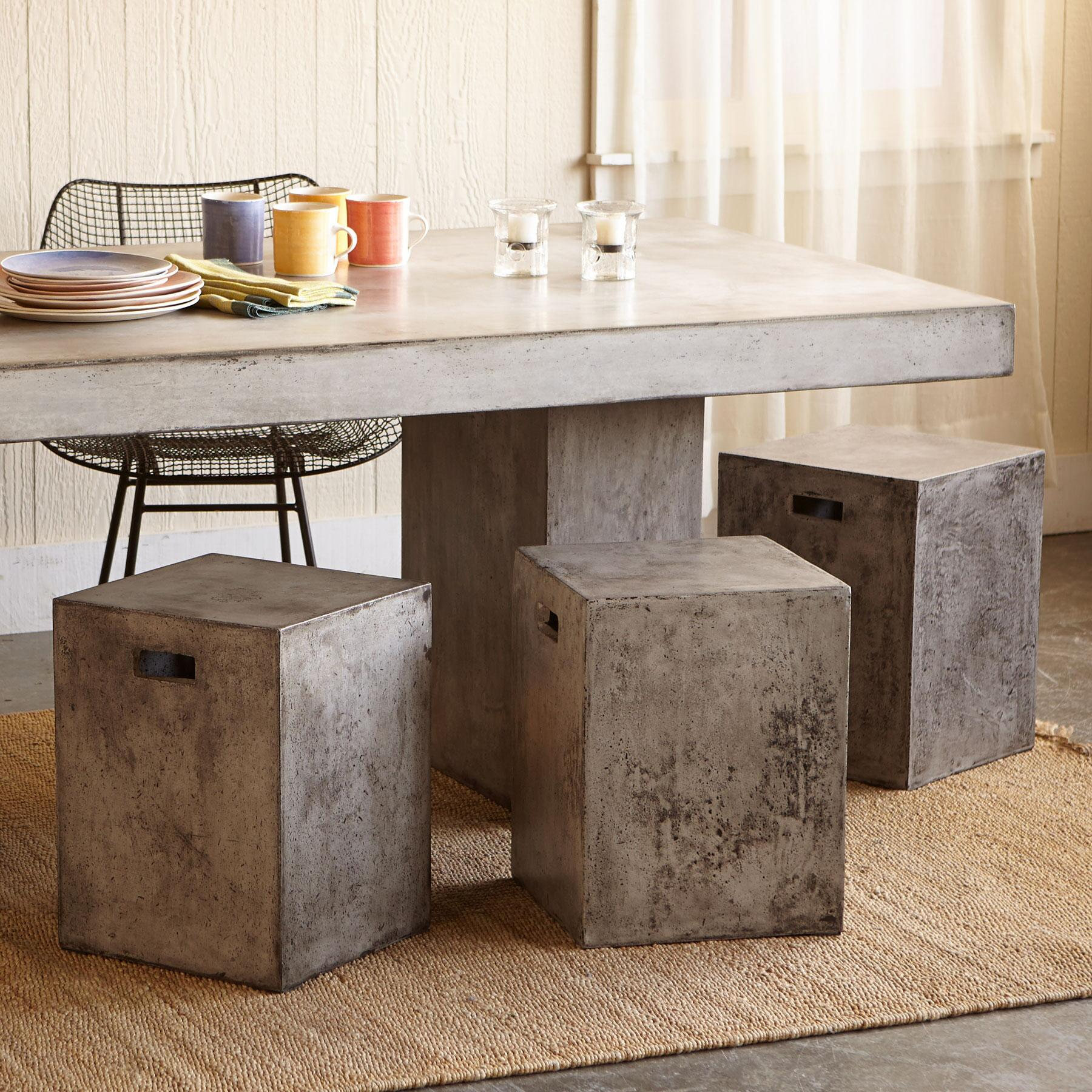 GRAVITAS CEMENT DINING STOOL: View 1