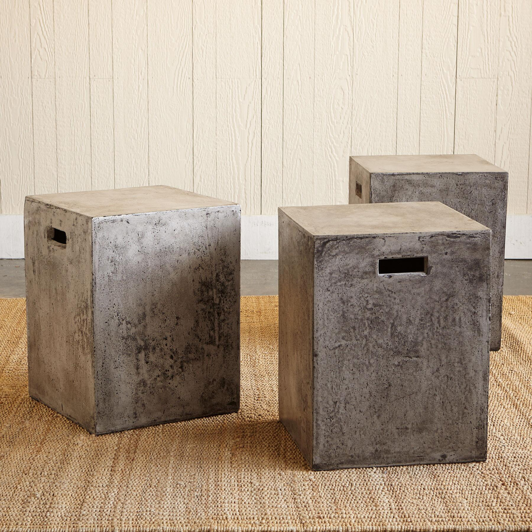 GRAVITAS CEMENT DINING STOOL: View 2