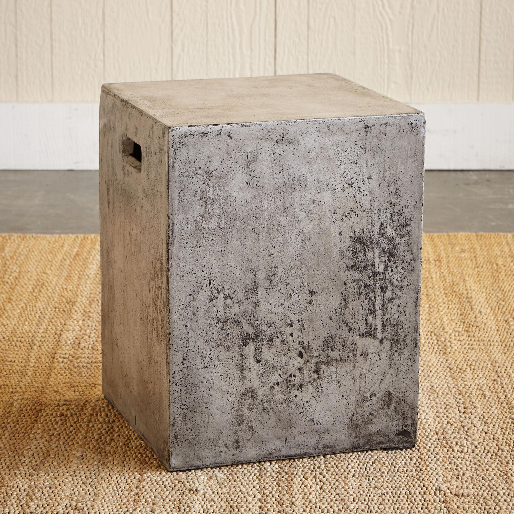GRAVITAS CEMENT DINING STOOL: View 3
