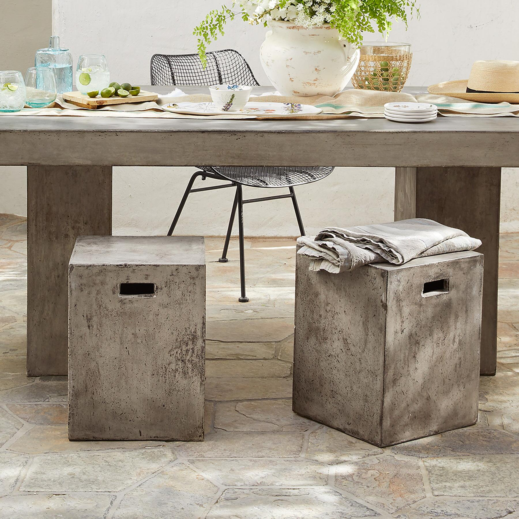 GRAVITAS CEMENT DINING STOOL: View 4