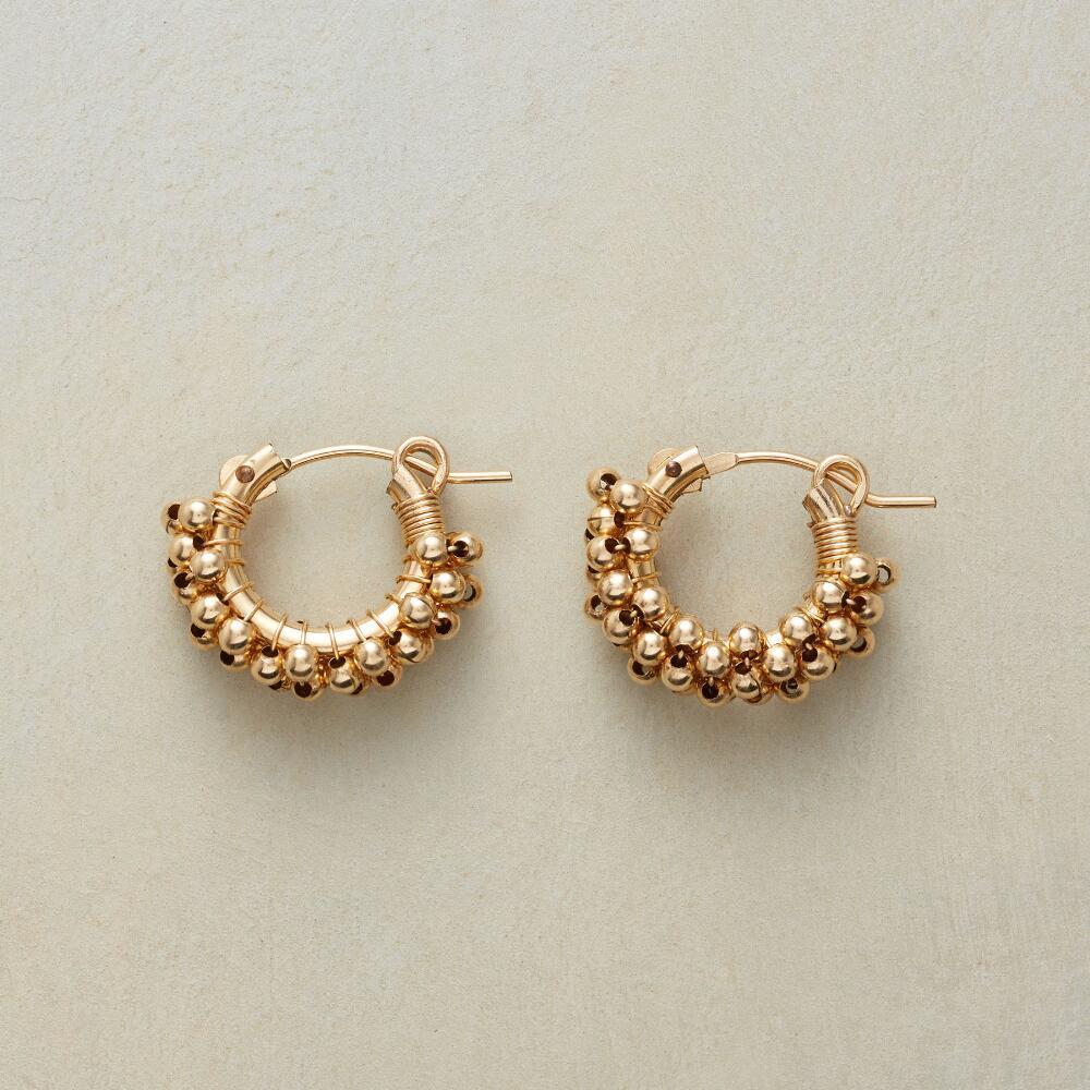 Beaded 14kt Gold-Filled Mini Hoop Earrings   Robert Redford\'s ...