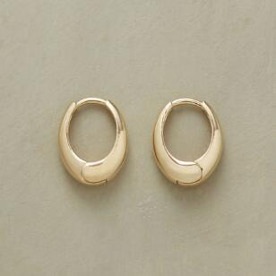 YELLOW GOLD OVAL HOOPS