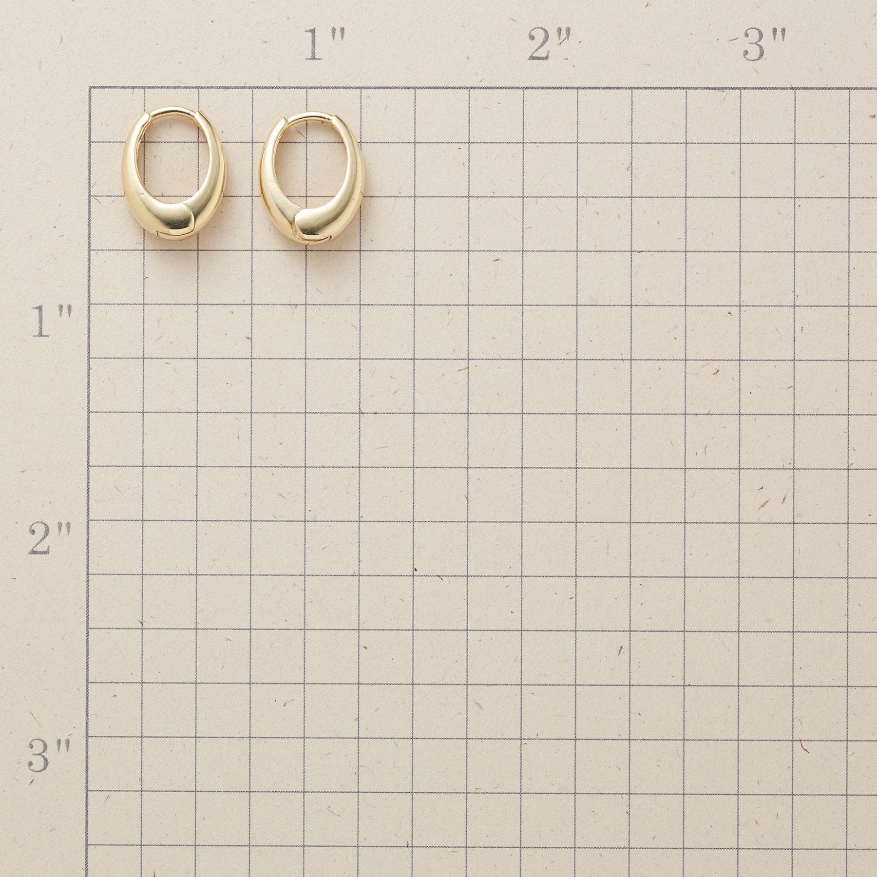 YELLOW GOLD OVAL HOOPS: View 2
