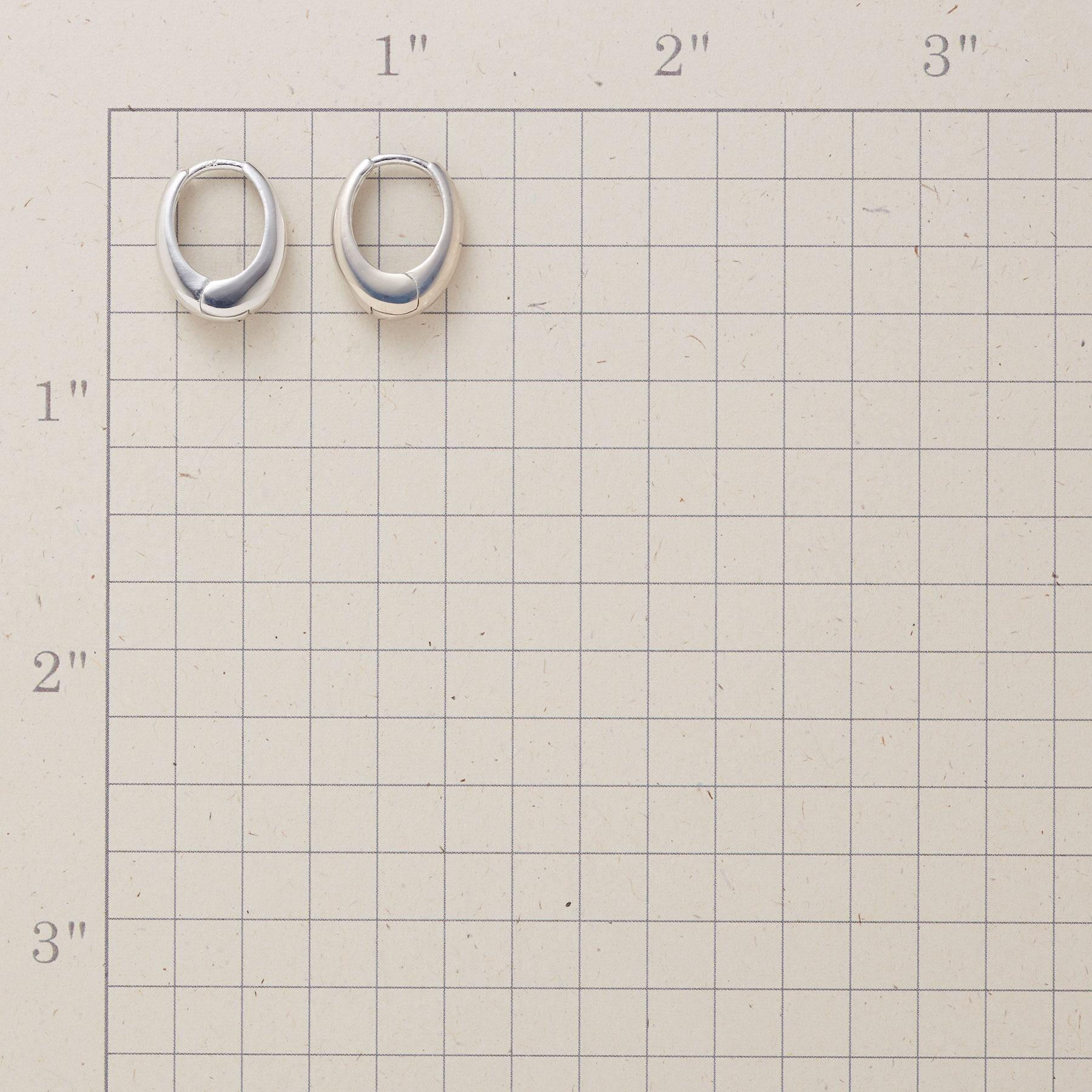 WHITE GOLD OVAL HOOPS: View 2