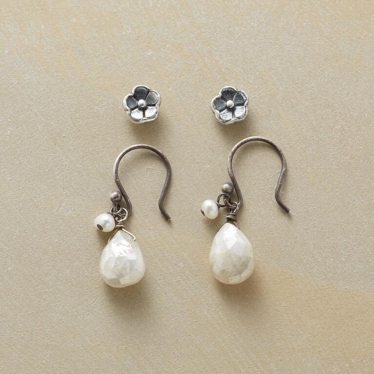 MOONFLOWER EARRINGS, SET OF 2